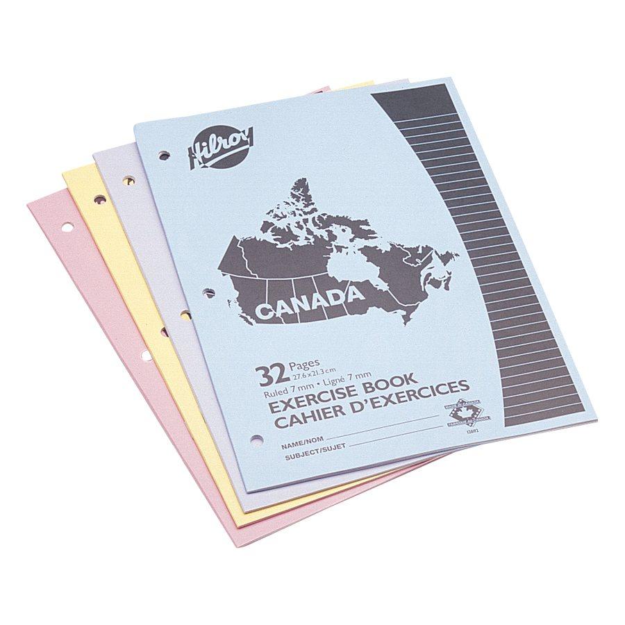 CAHIER CANADA 32P. PQT DE 4